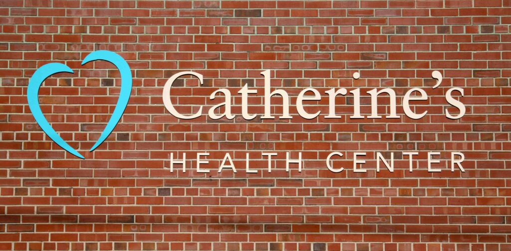Catherine's Name on Building